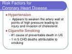 risk factors for coronary heart disease13