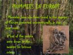 mummies in europe