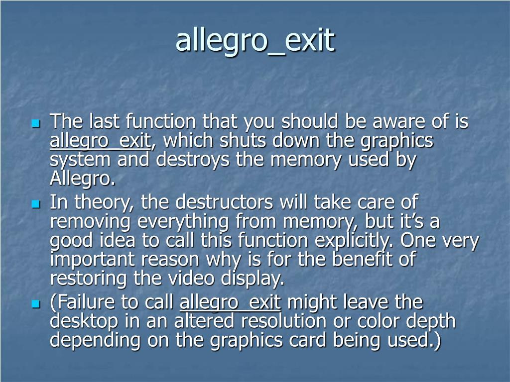 allegro_exit