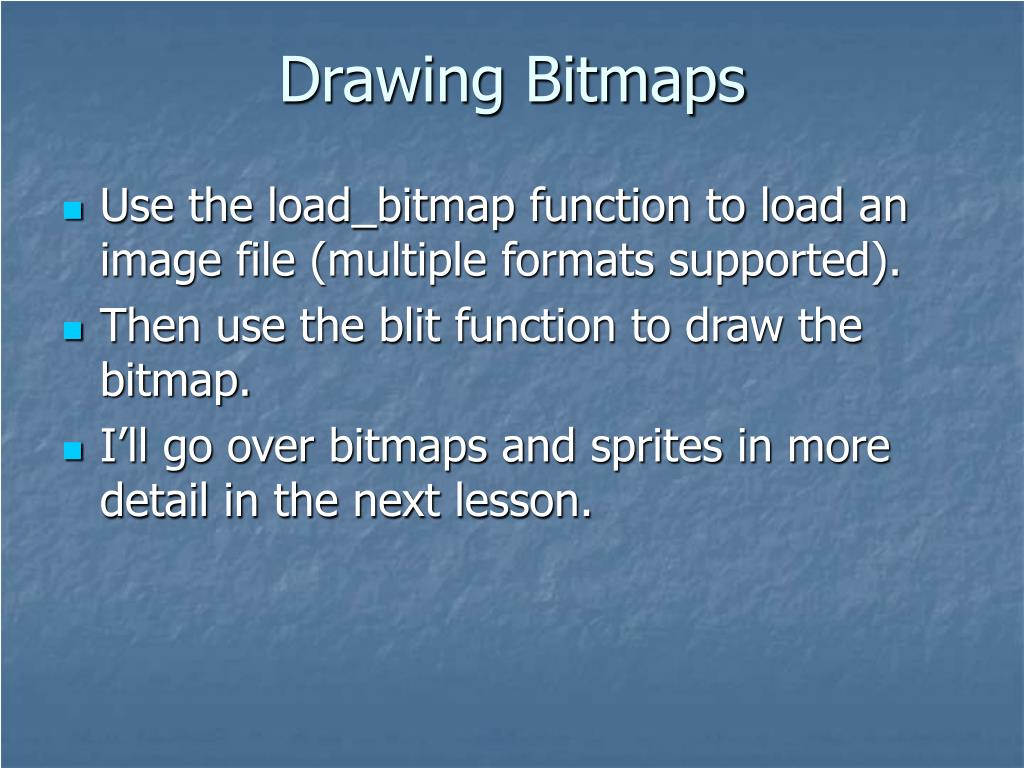 Drawing Bitmaps