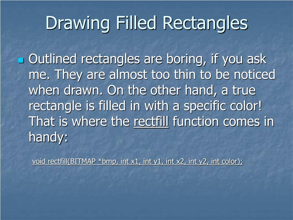 Drawing Filled Rectangles