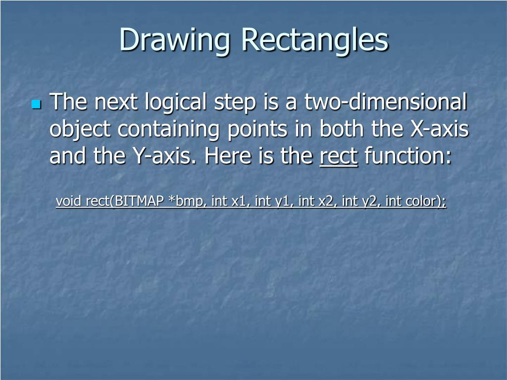 Drawing Rectangles