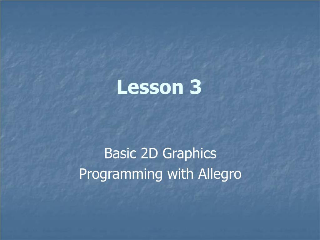lesson 3 l.