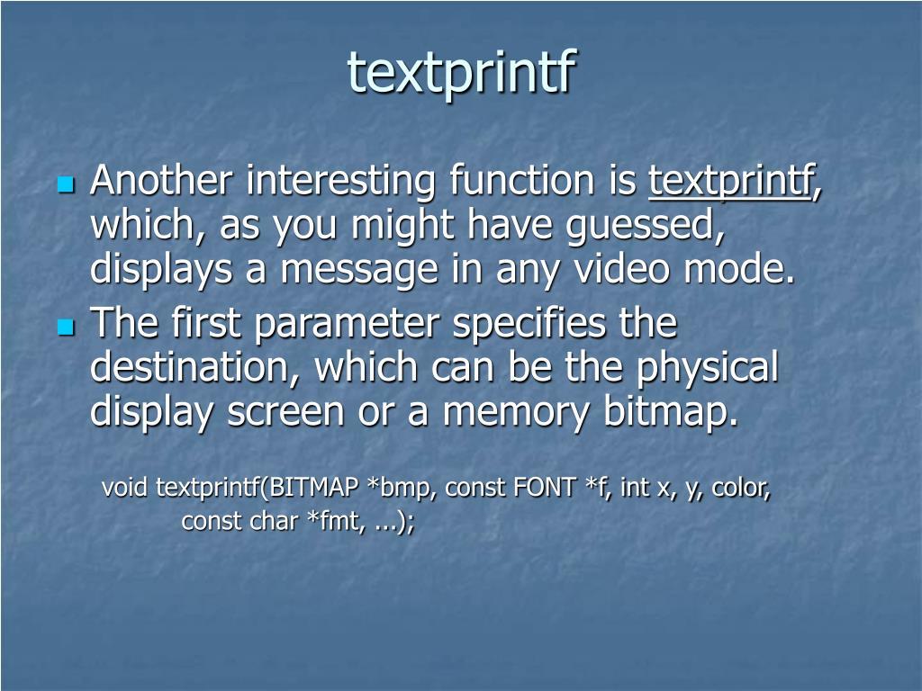 textprintf
