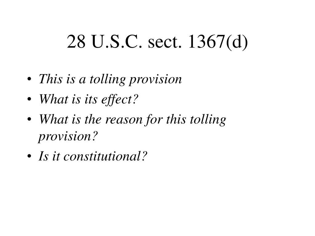 28 U.S.C. sect. 1367(d)
