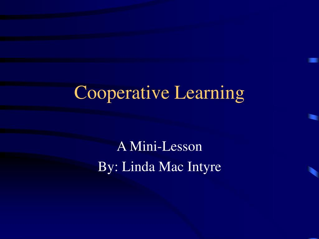 cooperative learning l.
