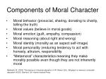components of moral character