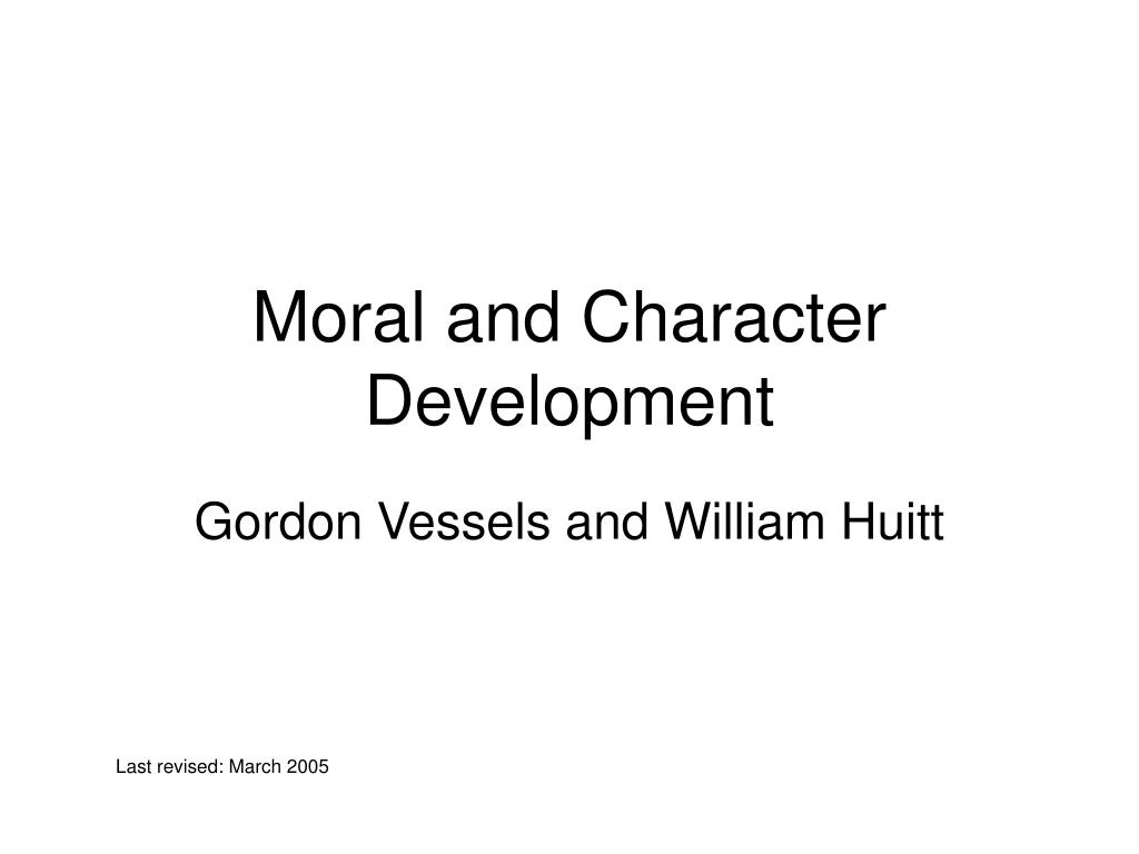 moral and character development l.