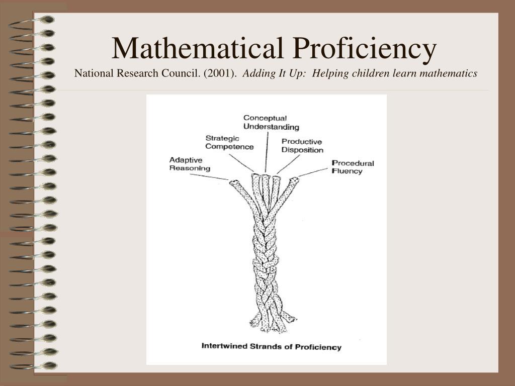 Mathematical Proficiency