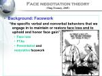 face negotiation theory ting toomey 2005