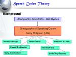 speech codes theory