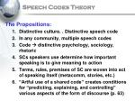 speech codes theory19