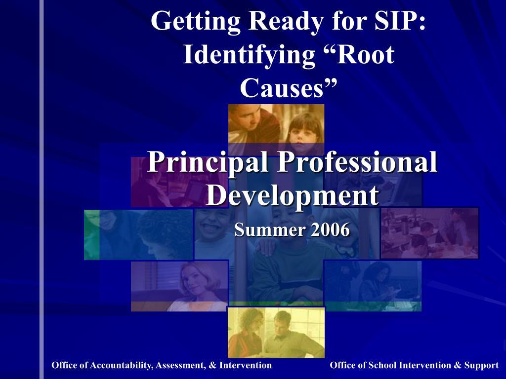 principal professional development summer 2006