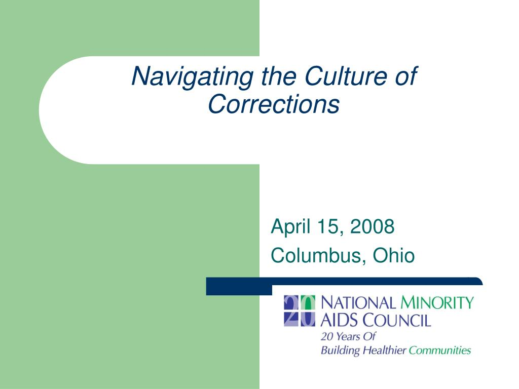 navigating the culture of corrections l.