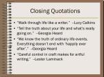 closing quotations