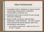 idea notebooks