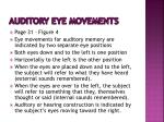 auditory eye movements