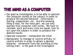 the mind as a computer