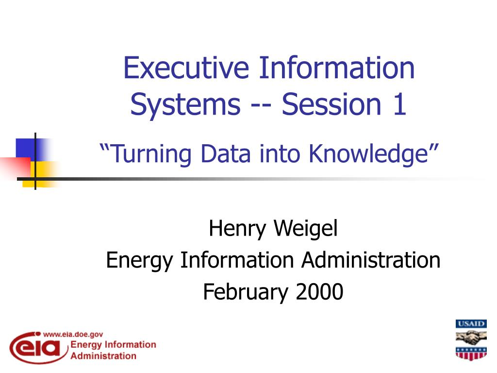executive information systems session 1 turning data into knowledge l.