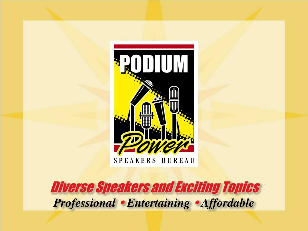 Diverse Speakers and Exciting Topics