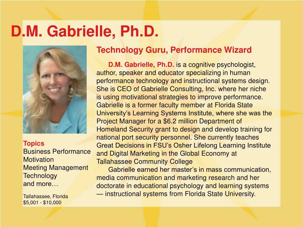 D.M. Gabrielle, Ph.D.