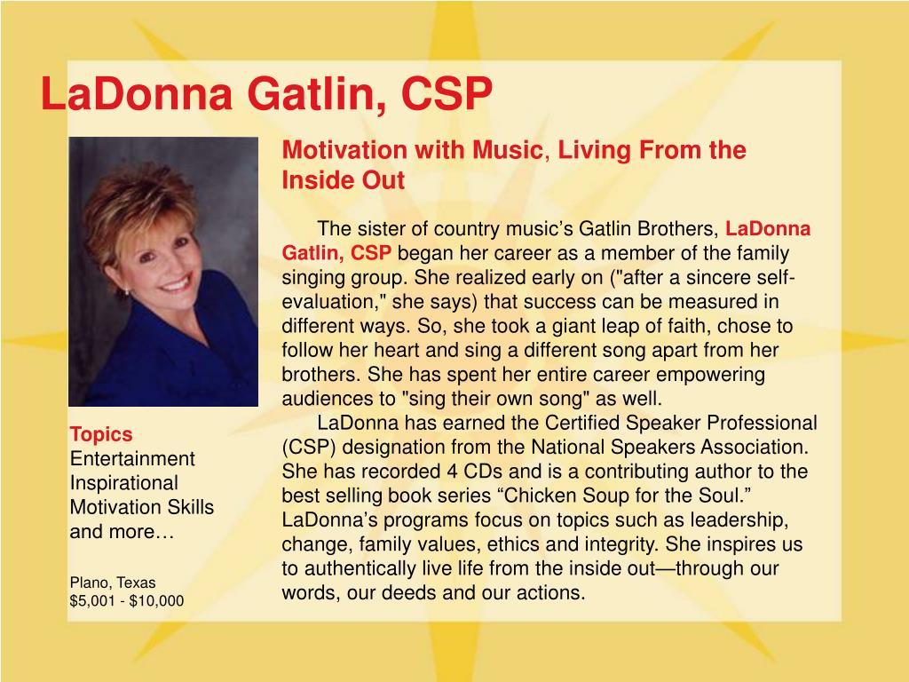 LaDonna Gatlin, CSP
