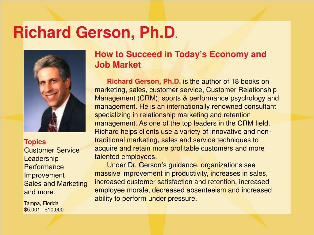 Richard Gerson, Ph.D