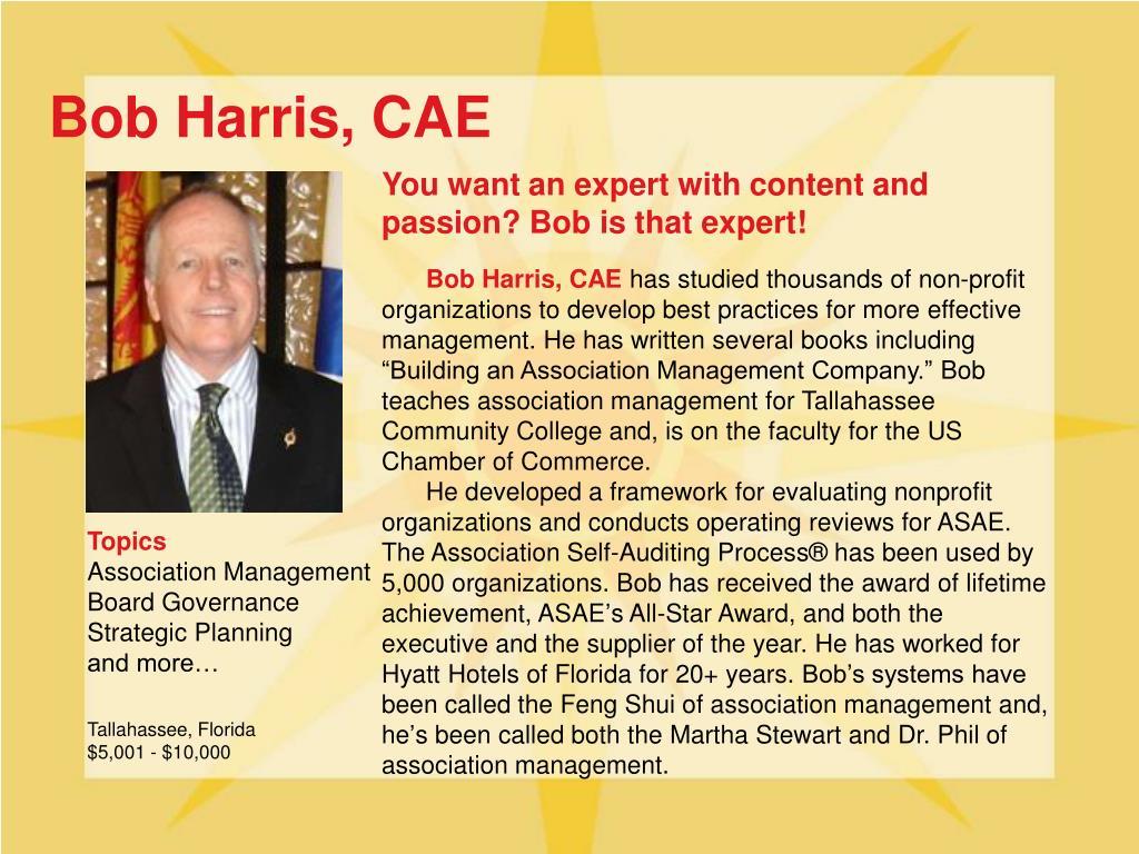 Bob Harris, CAE