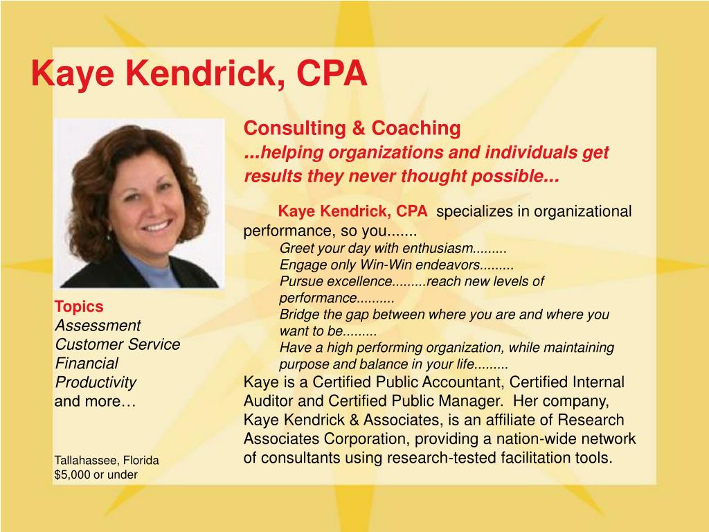 Kaye Kendrick, CPA