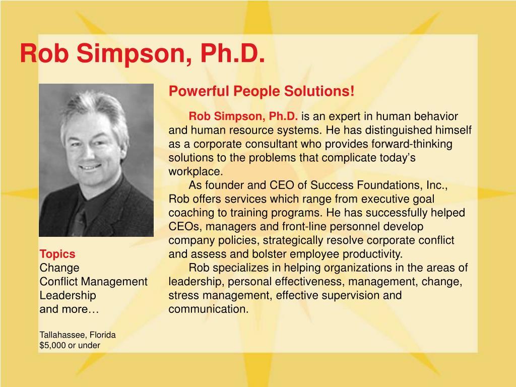 Rob Simpson, Ph.D.