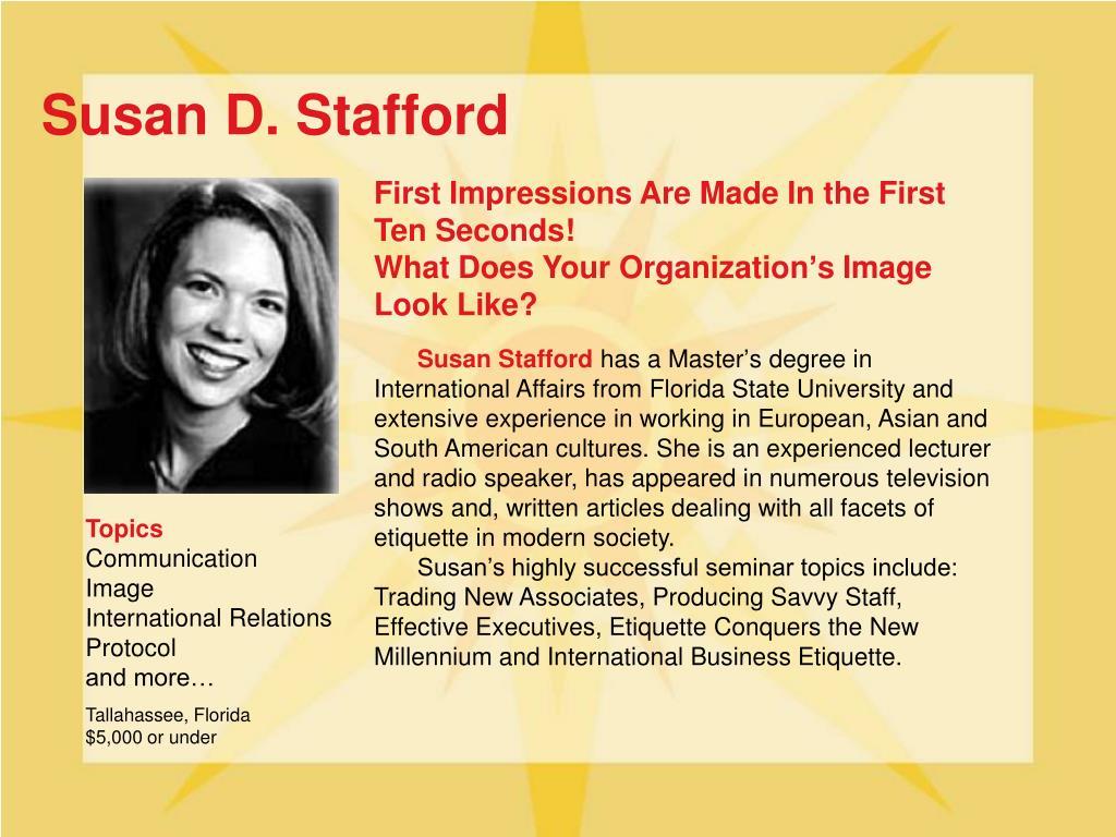 Susan D. Stafford