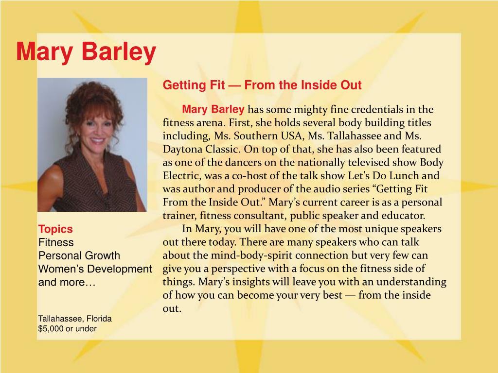 Mary Barley