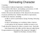 delineating character