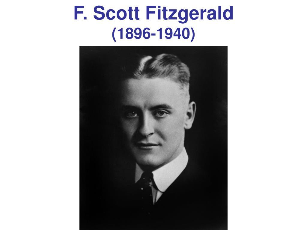 f scott fitzgerald 1896 1940 l.