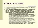 client factors