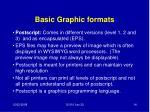 basic graphic formats