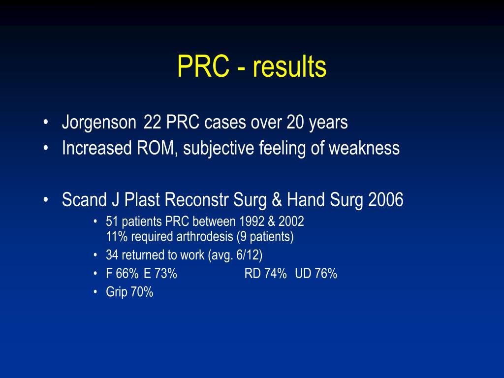 PRC - results