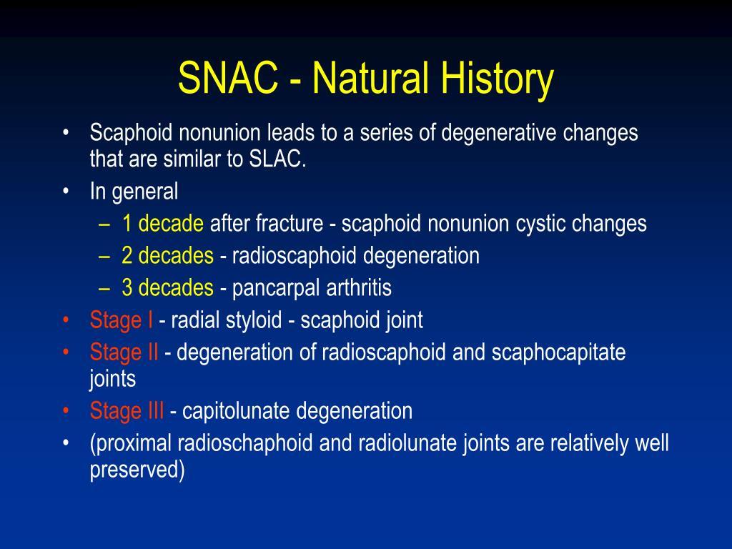 SNAC - Natural History