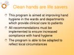 clean hands are life savers