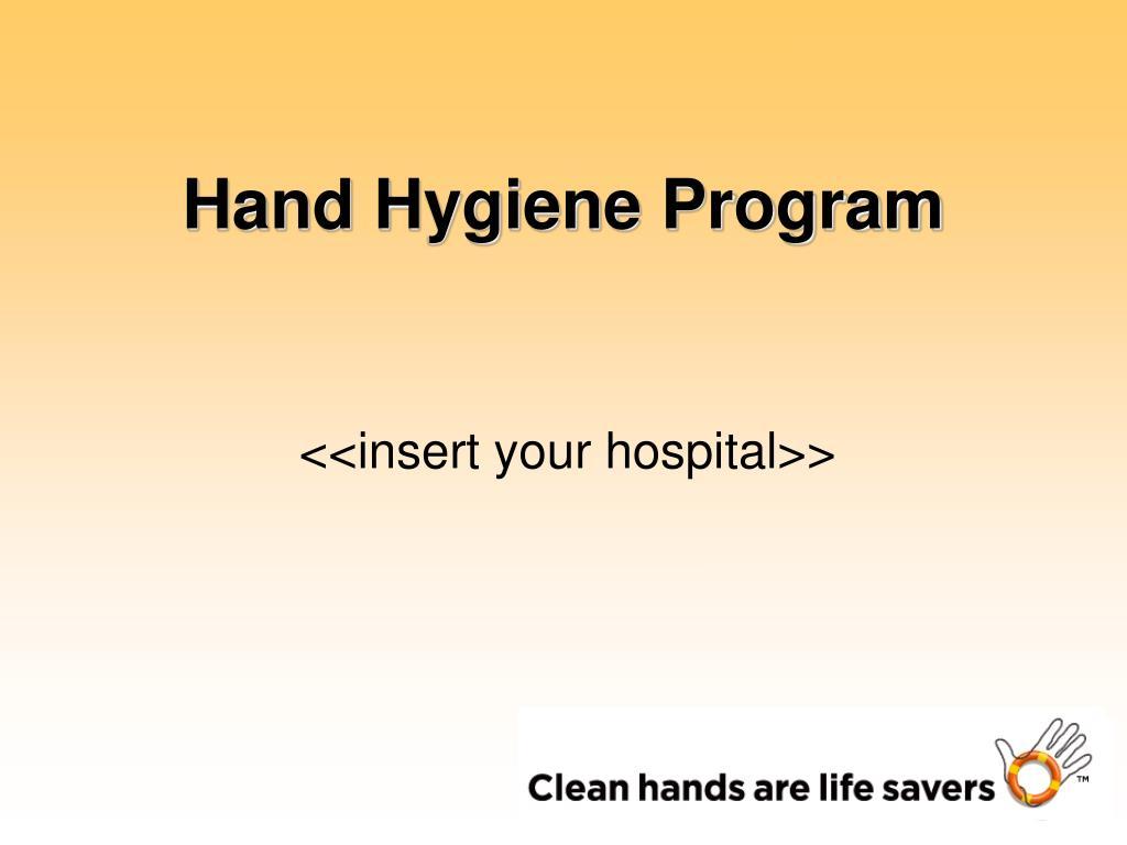 hand hygiene program l.