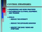 control strategies