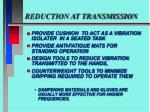 reduction at transmission