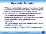 myocardial perfusion