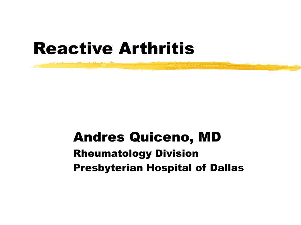 reactive arthritis l.
