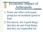 economic impact of arthropods