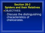 section 28 2 spiders and their relatives