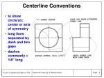 centerline conventions