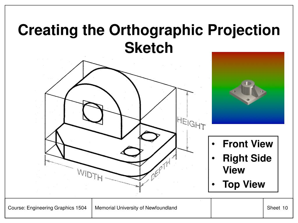 Creating the Orthographic Projection Sketch