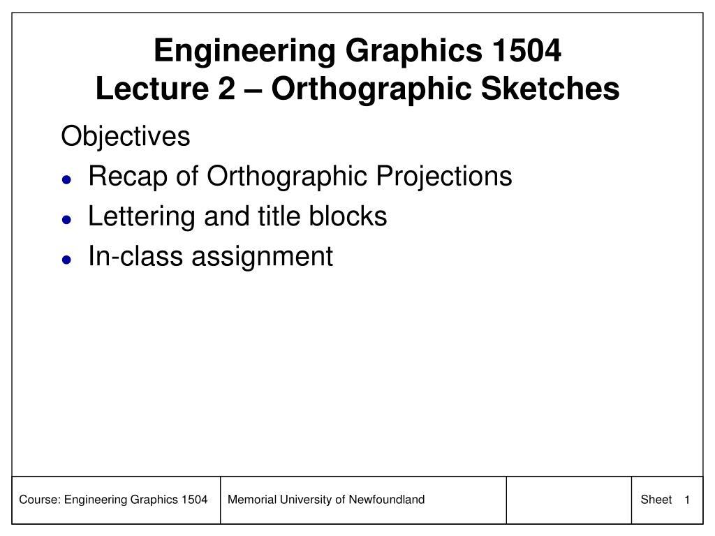 Engineering Graphics 1504