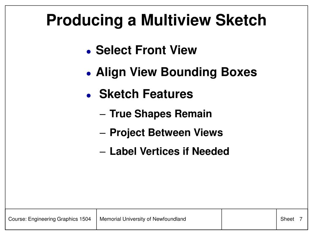 Producing a Multiview Sketch